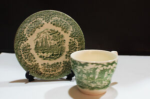 Green and White Design Teacup and Saucer Sets from EIT