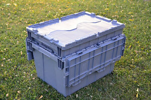 10 LARGE Plastic Storage Boxes - Used ($10 each box)