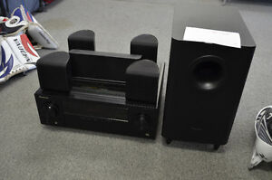 pioneer vsx 324 5 1 home theater system w remote speaker wire