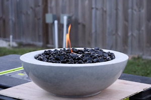Concrete fire bowls patio stones feature signs fire pit