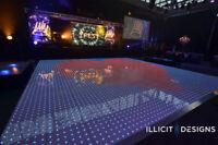 LED DANCE FLOOR - WEDDINGS CORPORATE EVENTS PARTIES RECEPTIONS