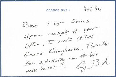 George H W  Bush   Autograph Letter Signed 03 05 1996
