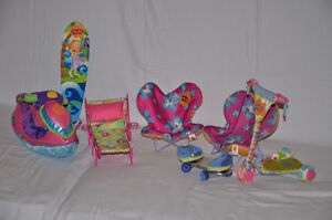 Groovy Girls - Jet Ski, 2x Chairs, Lounger, Scooter & Surf Board