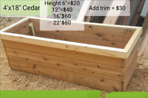 raised garden bed planter box cedar
