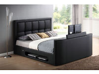 BRAND NEW LEATHER TV BED FRAME + FREE MATTRESS + DELIVERY 967