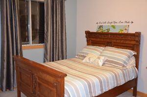 Antique Victorian Black Walnut Bedroom Set