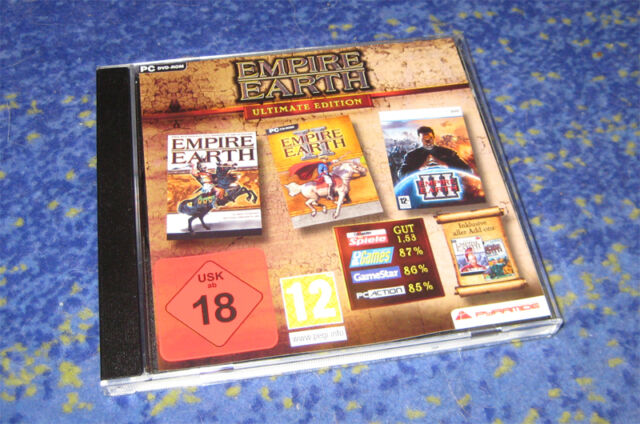 Empire Earth Ultimate Edition, 1, 2 3 inkl. Add-Ons PC DVD-Rom kpl.Paket