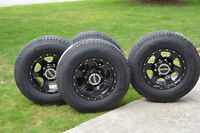 ** 4 Vision Assasin alloy rims with Hankook LT245-75-16 tires **