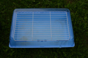 Blue Plastic cage for rabbits or guinea pigs