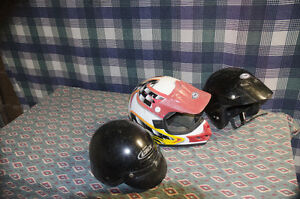 3 Helmets as the picture shows