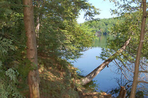 Waterfront land 2.5acres with 525ft frontage 30mins from Ottawa