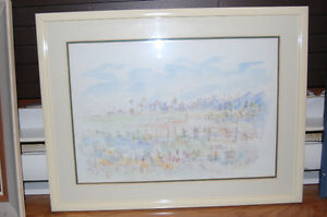 Watercolour/Ink Painting Signed Mahara