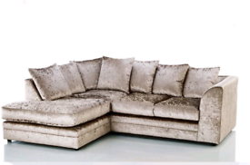 💯😎BRAND NEW Crushed Velvet 3+2 Sofa set or Corner suite 🚘