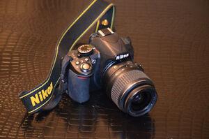Nikon D3100 15-55mm VR lens, Bag and memory card