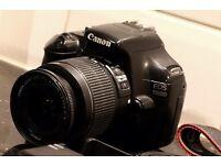 1100D Canon DSLR w/ kit 18-55MM lens