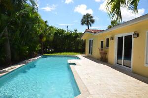 Maison a Louer, bord de l'eau a Boca Raton Floride, pres la mer