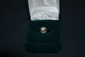 14 Kt, White Gold & Diamond Wedding Set (appraised at $3,460.00) Kawartha Lakes Peterborough Area image 1