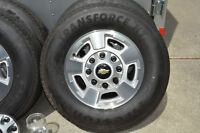 "New Chevy/GMC 17"" alloy rims and 10 ply - load range E tires"