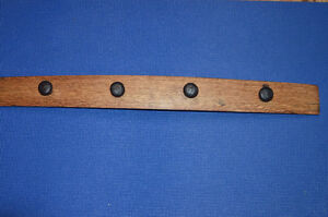 coat rack - locally made from barrel stave