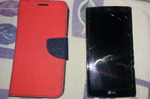 LG G4 Cell Phone With Case