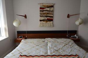 Teak Bedroom Set - Bed, Headboard with Night Stands and Dresser