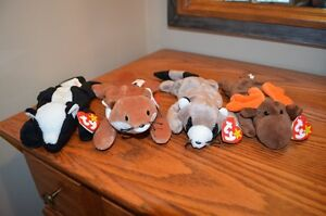 Ty Beanie Babies *Retired & Rare* - Set of 7 Woodland Creatures
