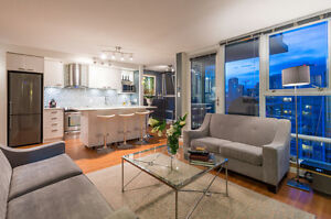 Fully Furnished 1 bed plus den in Downtown Vancouver