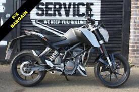 2013 KTM DUKE 125 GREY, ***P/X BARGAIN***