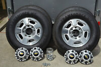 """New Chevy/GMC 17"""" alloy rims and 10 ply - load range E tires"""