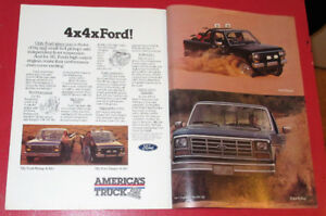 1985 FORD F-150 PICKUP & BRONCO TRUCKS VINTAGE AD - ANONCE 80S