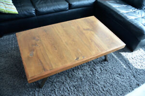 Modern Reclaimed Solid Wood Coffee Table