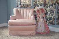 Rose Silk Boudoir Chair