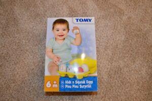 **NEW** TOMY Hide n Squeak Eggs (6+ mon)