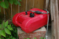 Outboard gas can