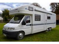 6-berth low mileage Auto-Trail Chieftain motorhome, 2 owners SOLD