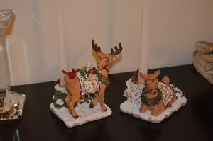 Beautiful BOMBAY set of Christmas Deer