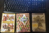Sims 3 Base, Sims Medieval and Darksiders 1 for Sale