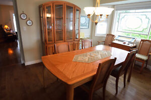 Dining Room Set w/6 Chairs, Buffet, Hutch, Extension
