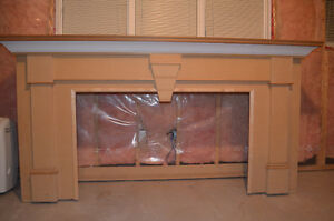 Unfinished Fireplace Mantel