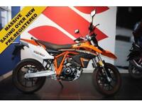 2017 17 SINNIS APACHE SMR 125 SUPER-MOTO ORANGE