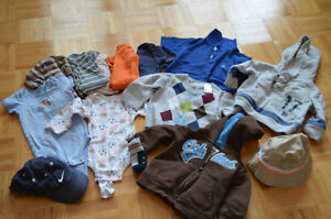 Boy long and short sleeve shirts, sweaters, hats