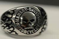 Bague Harley Davidson Willie Skull Ring