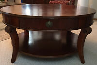 BROWN COFFEE TABLE SOLID WOOD ON SALE