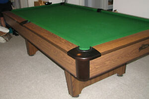 8' Snooker Table, NEW Rubber & Cloth, National Billiards