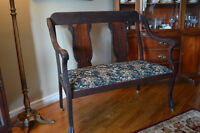 Beautiful Solid Wood Settee-Exquisite Condition!