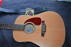Seagull 12str Acoustic-Q1T PU-LIKE NEW! HardCase/Strap--REDUCED!