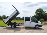 FORD TRANSIT 2.2 TDCi T350 Euro 5 DRW Double Cab Tipper with One Stop Body