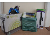 X box 360 + Kinnect + 24 Games + 2 Controler + Docking Station