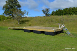 8 x 16 pressure treated floating dock with 4 x 16 ramp Kingston Kingston Area image 8