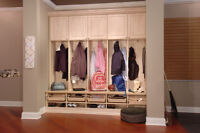 Mudroom storage solutions in London ON - CUSTOM CLOSET SOLUTIONS